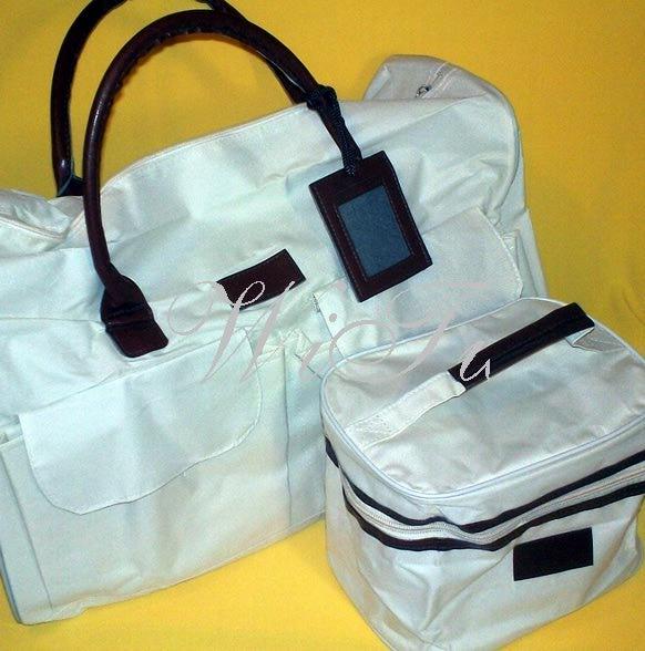 отзывы.  Ив Роше Набор белых сумок для путешествий.
