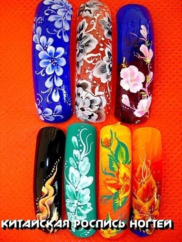Роспись ногтей рисунки на ногтях