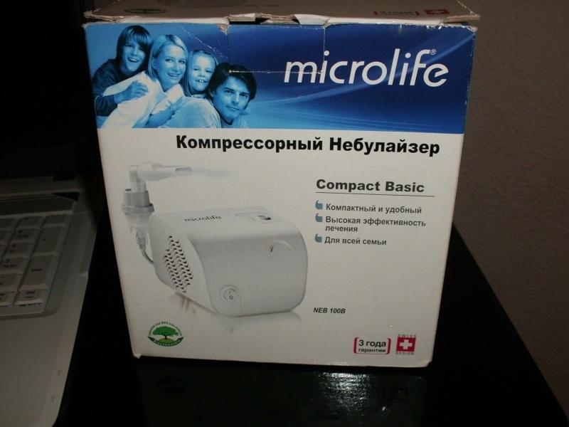 Компрессорный ингалятор небулайзер microlife neb 10.
