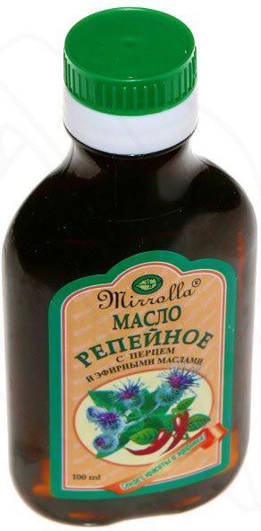 Репейное масло для снятия краски с волос