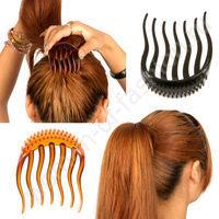 Причёски с гребнем для волос