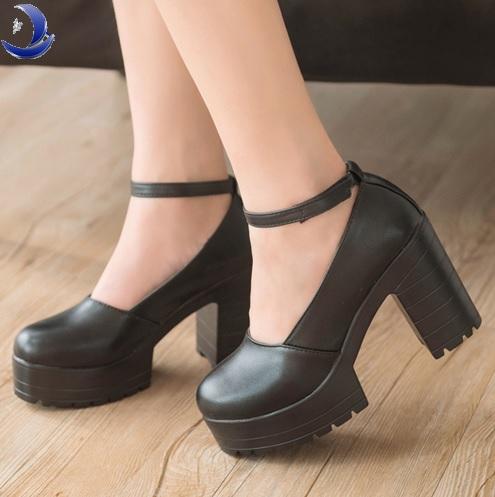 Туфли на высоком каблуке Aliexpress Factory Outlet Big szie spring ladies  footwear casual thick heels platform shoes for girls Europe women hihg  heels shoes ... c11fa3e7b3f