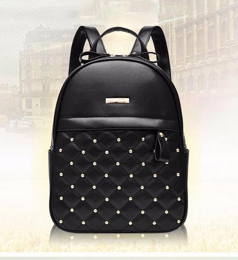 Рюкзак женский Aliexpress Women Backpacks 2016 Hot Sale Fashion Causal bags  High Quality bead female shoulder bag PU Leather - отзывы 6054c1b7066