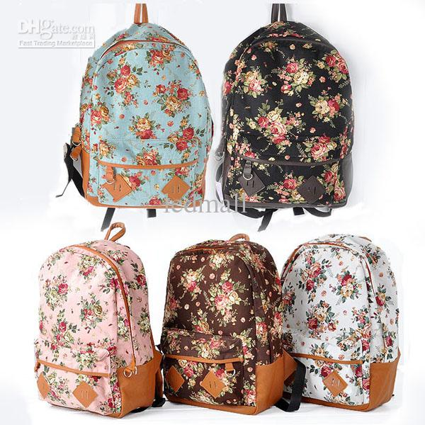 7eef47c1622e Рюкзак Aliexpress Women Vintage Cute Flower Backpack | Отзывы ...