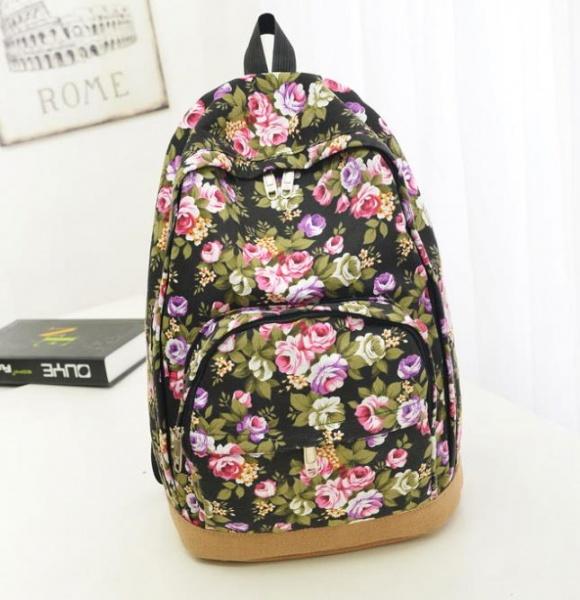 Canvas flower backpack рюкзак предназначены для младших школьников а ребятам постарше подойдут рюкзаки