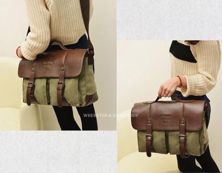 2006ef3c25d7 Мужская сумка Aliexpress Multifunction Men Leather Canvas Bag Casual Travel  Bolsa Masculina Men's Crossbody Shoulder Bag Messenger Bags M217 Loptop -  отзывы
