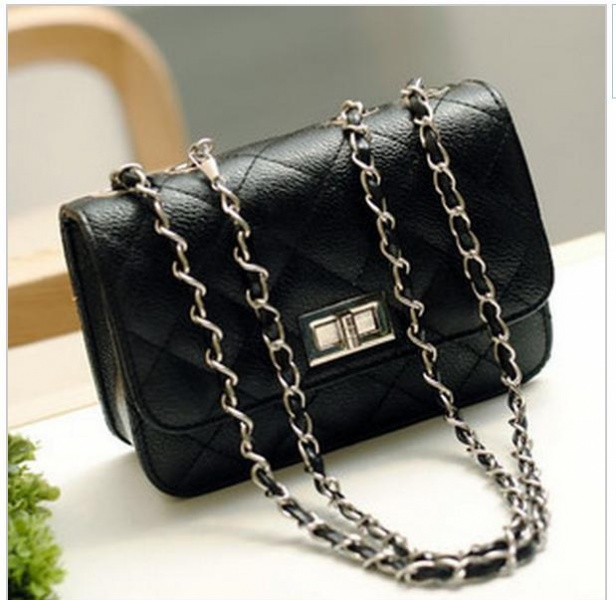 dc550e821e5c Сумочка дамская Aliexpress Сумочка-клатч 2013 New small bags plaid chain  fashion black mini women's handbag