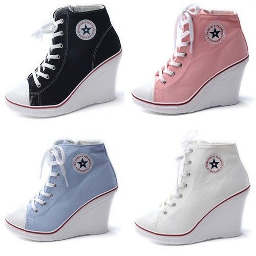 ccc7ee5d0ae32b Кеды Ebay Wedges Trainers Heels Sneakers Platform High Top Ankles Lace Ups  Zip Boots Shoes - отзывы