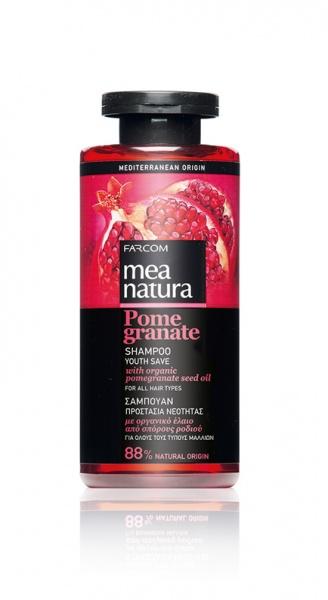 Farcom MEA NATURA Pomegranate Шампунь с маслом граната для окрашенных волос 300  мл.