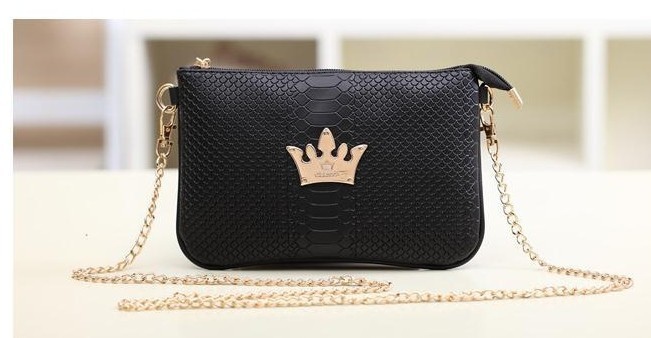 7dedf2bdecfd Сумка через плечо Aliexpress vintage Crocodile Imperial crown women metal  chain handbag - отзывы
