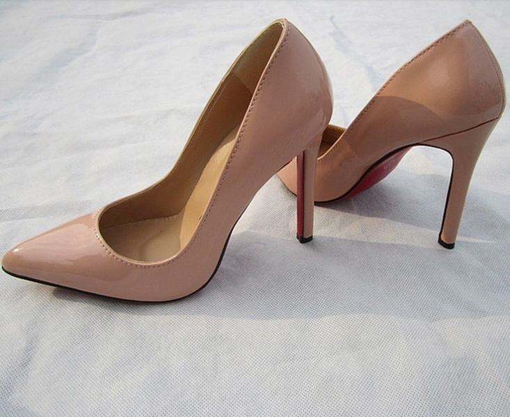 Slip On Pointed Toe Soft Pointy Thin Cone Heel Ultra High