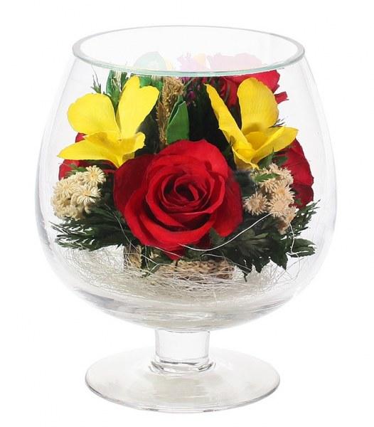 Живые цветы в стекле поставщик подарок жене наполеона коленкур