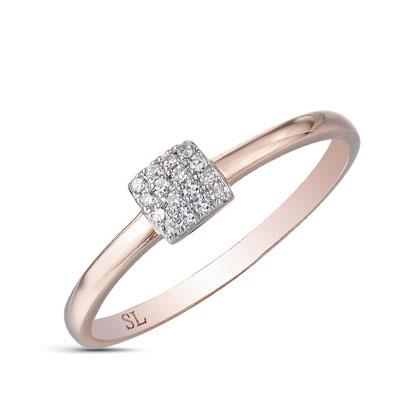 Кольцо с бриллиантом (1бр-Кр57-0,04-3/5 30бр