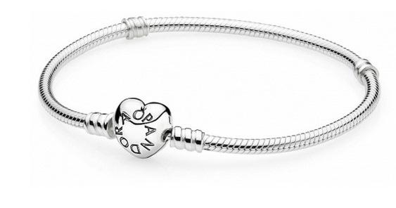 браслет Pandora из серебра с застежкой P Lock в виде сердца 590719