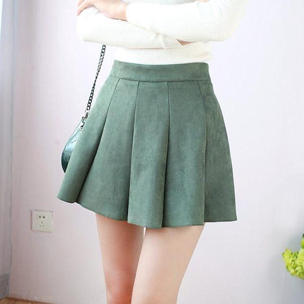 de620b71c46 Юбка AliExpress Winter and Autumn Women Hot Short Pleated Skirt Mini Preppy  Style Slim Suede Skirts Drop Shipping Saias Faldas 4 Colors - отзыв
