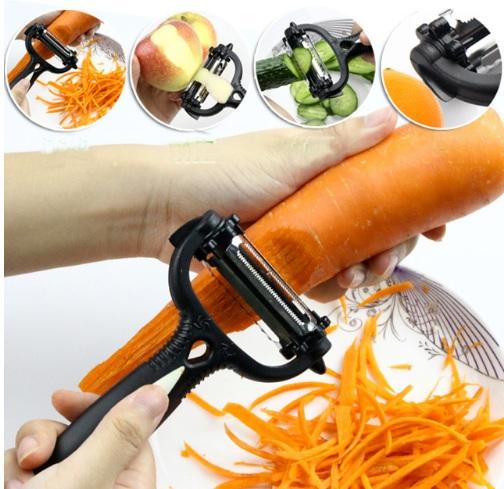 360 Rotary Kitchen Tool Vegetable Fruit Potato Peeler Cutter Slicer Melon Gadget