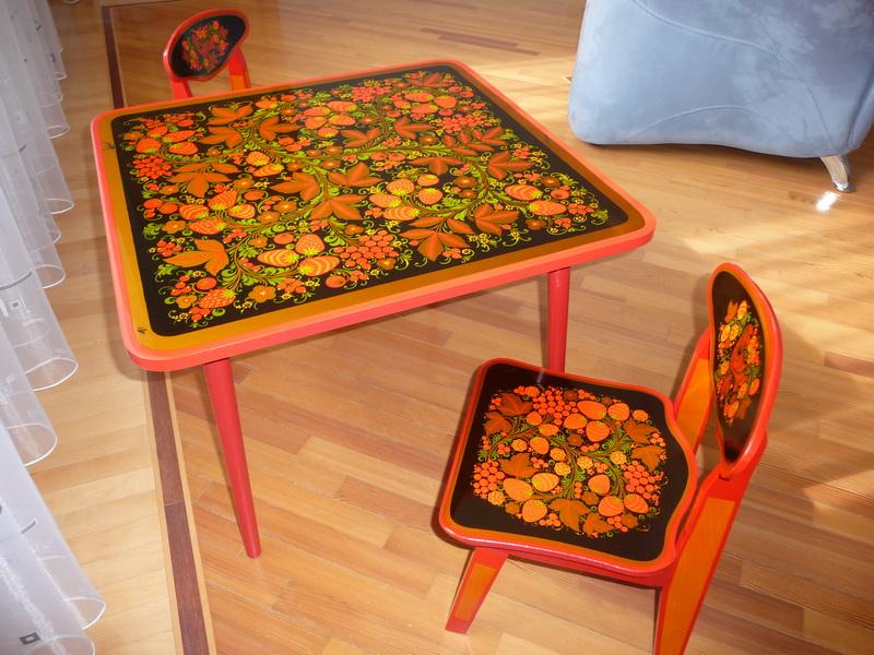 Столики хохлома для детей