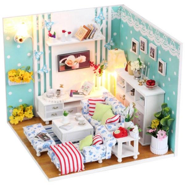 Diy Miniature Doll House Kit Room Box Otzyvy Pokupatelej