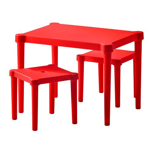 детская мебель Ikea уттер детский стол и 2 стула красный ддома