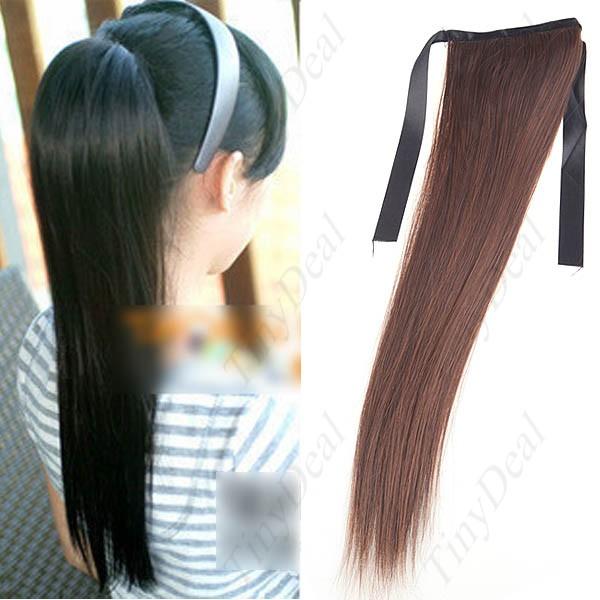 Хвост из искусственных волос на ленте купить