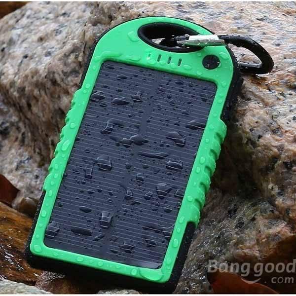 Solar charger power bank triple anti charging adapter real 4000mah.