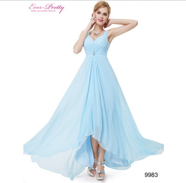 d42b07d7c8e Вечернее платье AliExpress Long Evening Dresses Free shipping HE09983BK  Double V Neck Rhinestones Ruched Bust High Low patterns - отзыв