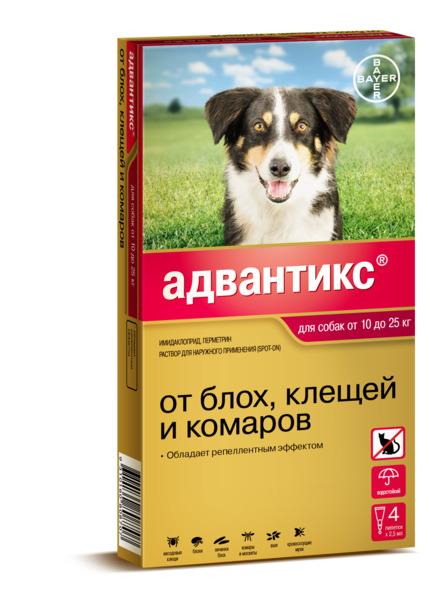 Капли адвокат для собак: инструкция по применению, цена, отзывы.