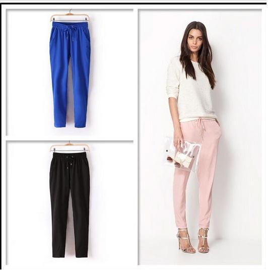 21769e67 Брюки AliExpress 4 Colors New Womens European Fashion Spring Season Cotton  Harem Pants B - отзывы