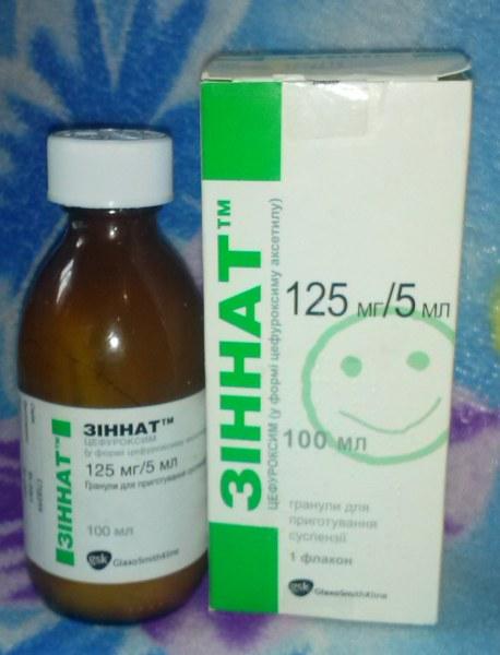 Антибиотик glaxosmithkline зиннат 125 мг/ 5 мл гранулы для.