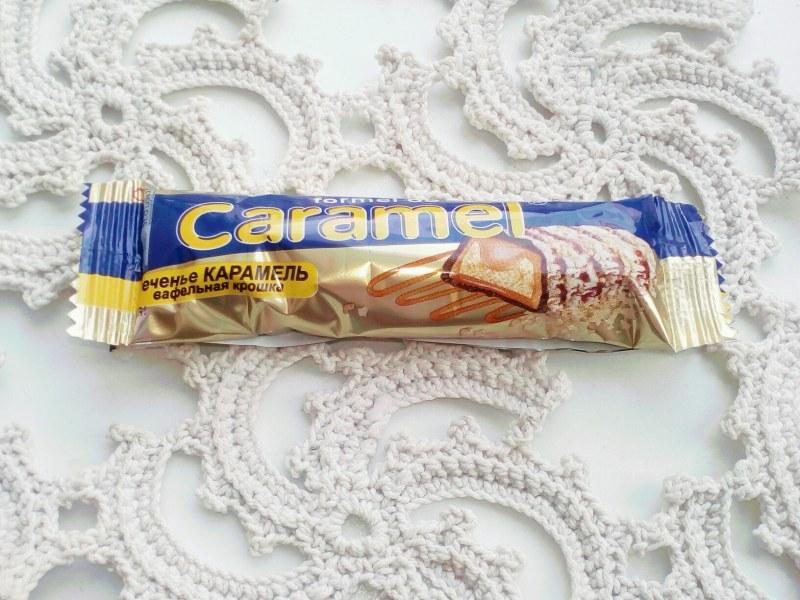 Печенье карамель вафельная крошка