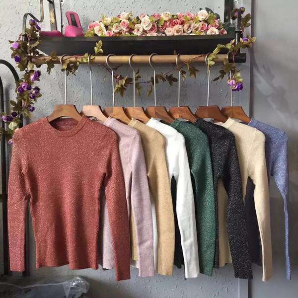 998655fe2 Пуловер AliExpress WOTWOY Shiny Lurex Autumn Winter Sweater Women ...