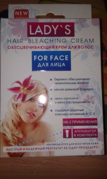 Осветляющий крем для волос на лице