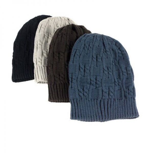 4b629546c1a Шапка AliExpress Sell Like Hot Cakes Fashion Caps Warm Autumn Winter  Knitted Hats For Women Stripes Double-deck Skullies Men s Beanies 6 Colors  - отзывы