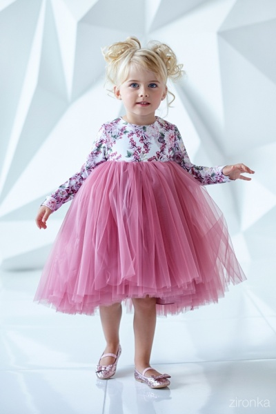 e53eed4ffed8242 Платье для девочки Зиронька Артикул 38-7002-1 - «Нарядное платье для ...