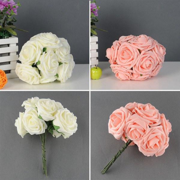 Букет из искусственных цветов своими руками фото 319