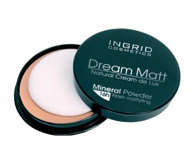 минеральная пудра Ingrid Cosmetics Dream Matt Natural Cream De Lux