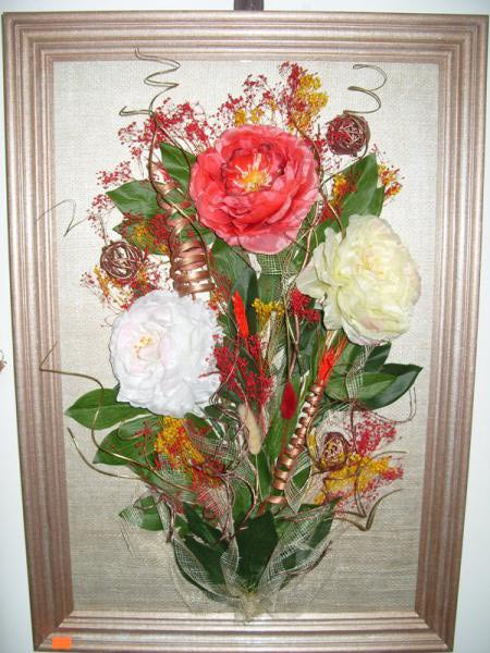 Флористическая композиция панно