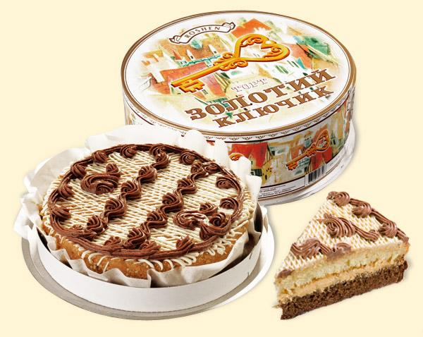 торт золотой ключик рошен рецепт с фото