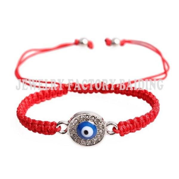 Браслет Aliexpress new black red black string circle crystal blue evil eye  charm handmade cheap bracelet - отзыв d1bfe828c6c