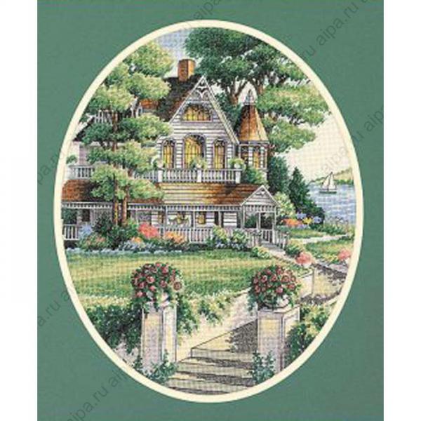 Викторианские дома схемы для вышивки