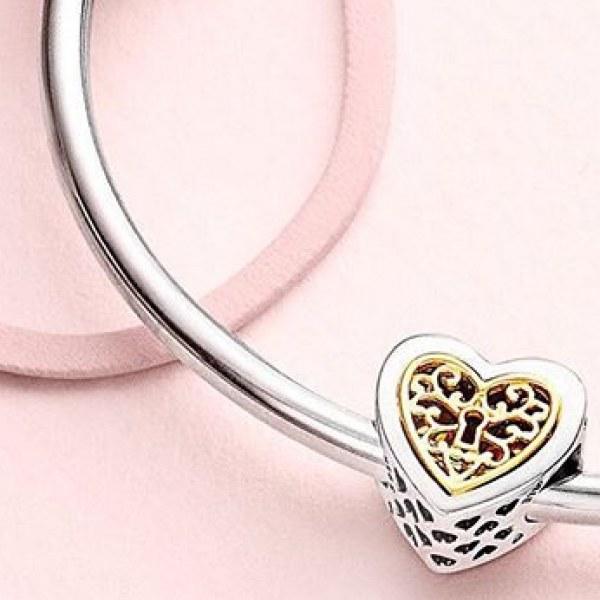 Картинки по запросу Сердечко шарм на браслет пандора
