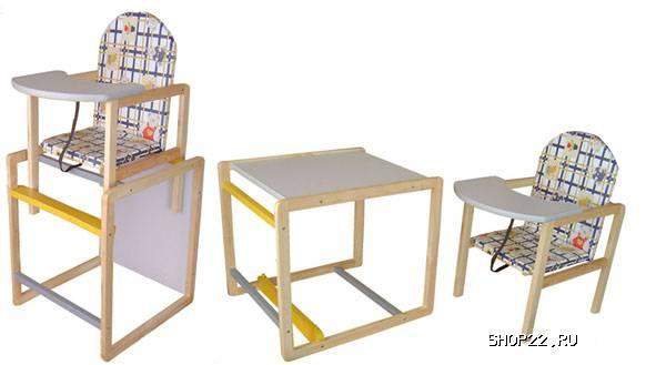 стульчик для кормления непоседа деревянный стульчик трансформер