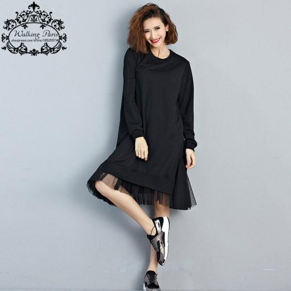 Удлиненное платье футболка