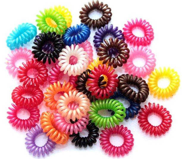 Резинки пружинки для волос фото