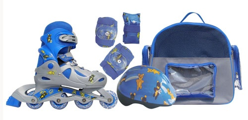 Детские раздвижные роликовые коньки alpha caprice с защитой рюкзак рюкзак в виде медвежонка