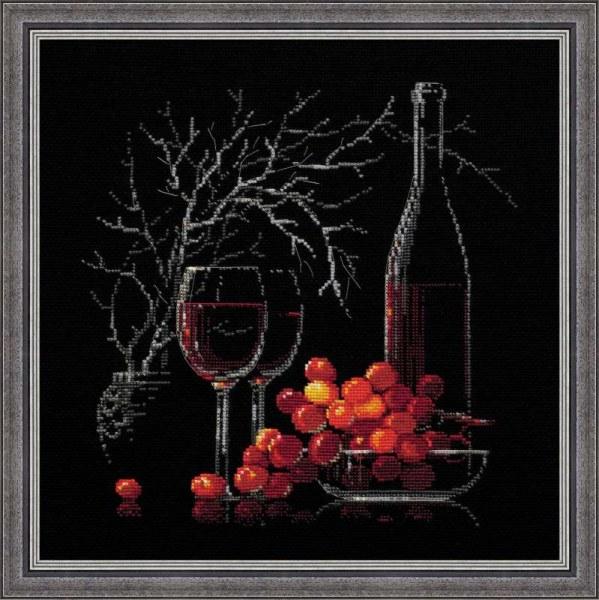 Натюрморт с вином схемы вышивки крестом