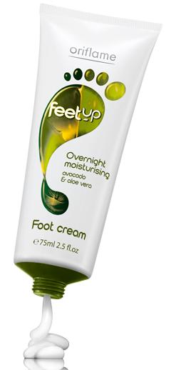 oriflame overnight moisturising foot cream