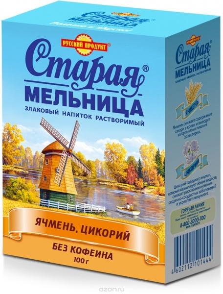 """Напиток Русский продукт злаковый растворимый """"Старая мельница ..."""