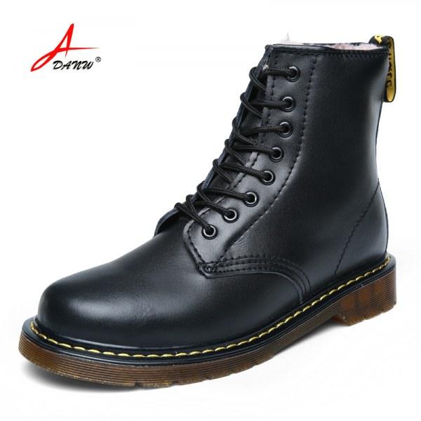 Мужские ботинки Aliexpress New 2015 Dr.Ma Fashion Men Boots Winter Snow  boots Genuine Leather Martin boots With Plush Super Warm Winter shoes -  отзыв 7f41eda1e09c4