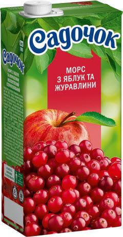 клюквенный морс с яблоками